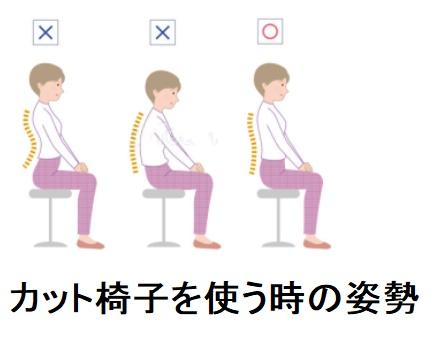 美容師の腰痛を引き起こすカッティング施術