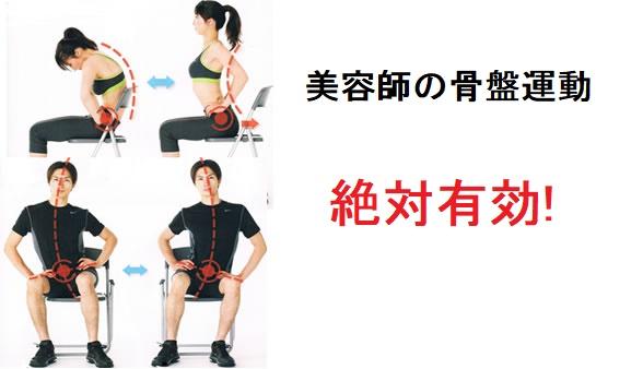 美容師の腰痛に効く骨盤運動