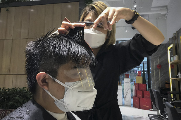 中国(China)での美容院が行うコロナウイルス対策